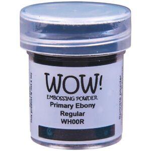 WOW! Primary Colours Embossing Powder Ebony Black Regular   15ml Jar