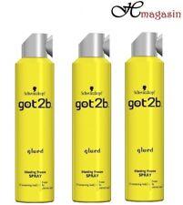 3 X Schwarzkopf Got2B Glued Blasting Freeze Spray Screaming Hold Freeze Fix 300m