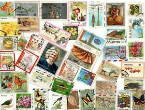 A LOVELY MIX OF ALL DIFFERENT KILOWARE STAMPS FROM MALAYSIA