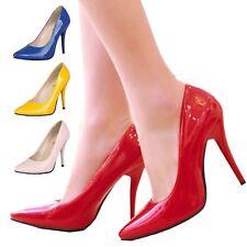 PU High Heels Party Womens pumps Vintage Bridesmaid court Shoes prom plus size