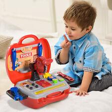 16pc Kids Tool Set Pretend Construction Play Accessories Handy Storage Case