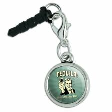 Tequila Brain Off Liver On Funny Retro Mobile Phone Headphone Jack Charm
