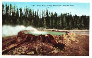Vintage Postcard 1949 Punch Bowl Spring Yellowstone National Park Upper Geyser