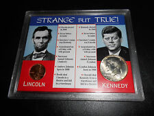 1959 Lincoln, 1969 Kennedy Strange but True. Two Coin Collection Set.