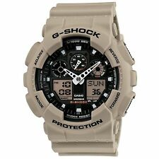 Casio G-Shock Military Sand Grey Beige Analog/Digital Sport Watch - GA100SD-8A