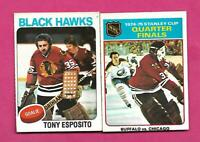 2 X 1975-76 OPC  CHICAGO TONY ESPOSITO EX-MT  CARD (INV# D2533 )