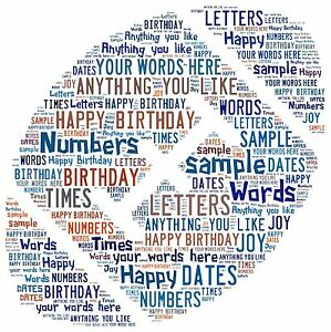 word art personalised gift present keepsake Rugby brother son birthday dad uncle