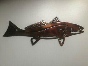 "Red Fish - Metal Wall Art - Copper 11 1/2"" x 5"""
