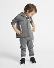 Nike Tech Fleece Toddler 2-Piece Set 18M Gray Black Full ZIp Hoodie Pants