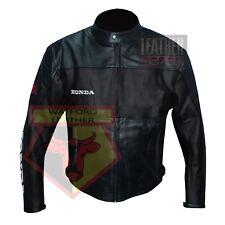 HONDA 5525 BLACK MOTORBIKE COWHIDE LEATHER MOTORCYCLE BIKERS ARMOURED JACKET