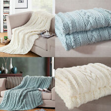 Chunky Knitted Blankets Throw Sofa Bed Cover Office Nap Air Condition Blanket