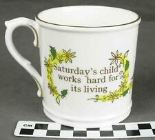 Royal Worcester Saturday's Child Works Hard For Its Living Birthday Mug (HH)