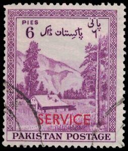 "1954 PAKISTAN Stamp - ""Service"" Red Overprint 6p 1056"