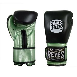 Cleto Reyes Limited Edition Sparring Gloves Boxing Training Metallic Green Black