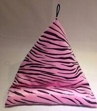 iPad, Tablet, Kindle Bean Bag Cushion Support. Pink & Black Velvet Animal Print.
