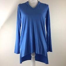 Karen Kane Hi Lo Sky Blue Long Sleeve Hoodie Womens Size Small $88. M4