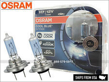 NEW! H7 OSRAM Cool Blue Intense (CBI) Halogen Headlight Bulbs 20%+, 4200K Color
