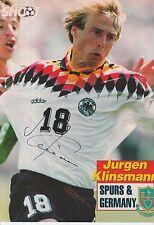 Jurgen Klinsmann mano firmado Alemania Revista Foto.