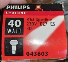 10X GE 40w E27 230V Spot R63 Incandescent Lamp 30 degree