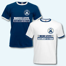 T-Shirt Trikot Retro-Shirt, JGA Auswärtstour, Junggesellenabschied, + Wunschname