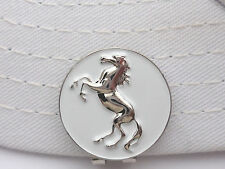 Chrome Stallion Golf Ball Marker W/Bonus Magnetic Hat Clip