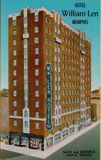 VTG Hotel William Len Main and Monroe in Memphis Tennessee TN Postcard