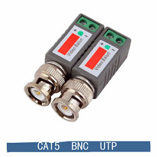 2PCSx BNC Video Passive Balun to UTP Connector CCTV camera Transceiver New