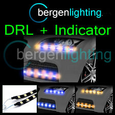 2 x 350mm blau/Bernstein DRL Blinker 12V SMD5050 DRL Stimmung Licht Streifen