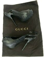 Authentic GUCCI Python Leather High Heels Sandals Shoes Size 36 / Art 234822