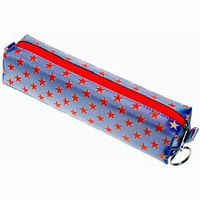 Lenticular Pattern-Changing Red Stars on Blue Pencil Case #R-012B-GLOBO#