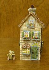 "Boyds Treasure Boxes #392133 Julie'S Dollhouse w/ A.P. McNibble, 3.25"" Nib"