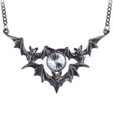 Alchemy Fantasma Pipistrello Gotico Collana Ciondolo Cristallo Swarovski + scatola regalo gratuito