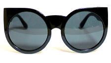 BLACK Oversized Big SUNGLASSES Cat Eye Frames Round Lens Style #558 #ParisHilton