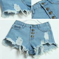 Fashion Women Girl Vintage High Waist Jeans Hole Denim Short Jeans Denim Shorts