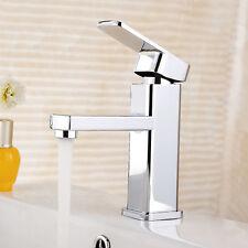 Modern Basin Sink Tap Round Mixer Chrome Mono Bloc Luxury Bathroom Cloakroom