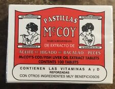 Pastillas Mccoy Cod/Fish Liver Oil Extract Tablets, 100 - Count. Ship free
