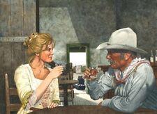 Lonesome Dove Gus (Robert Duvall) Lorena Wood (Diane Lang) Art Print