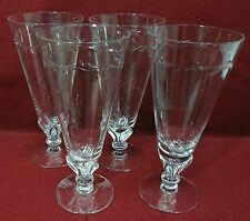 "TIFFIN crystal LENOX WREATH pattern 17418 Set of 4 Iced Tea Glass Goblets 7 1/2"""