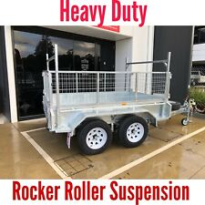8x5 Tandem Trailer Galvanised Australian Made 2000kg ATM 350mm High Side 1800mm