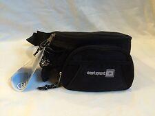 Black Fanny Pack Waist Bag Travel Belt Hip Purse Mens Womens NWT Nylon Bum Bag