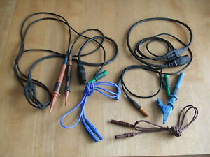 Untested - KYORITSU CAT III 600V Fused IEC Mains Test Leads Cables Kewtech Robin