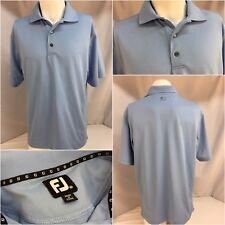 FootJoy Golf Shirt Medium Light Blue Poly EUC YGI 5979