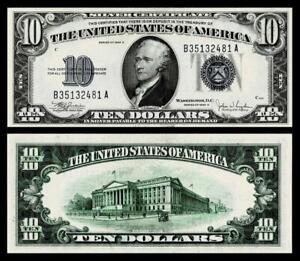 1934-C $10 SILVER CERTIFICATE NOTE~~CRISP ~UNCIRCULATED