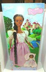 Barbie My Size Barbie As Rapunzel African American Mattel 2002 New In Box NIB