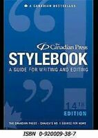 Canadian Press Stylebook: A Guide For Schreib Und Bearbeitung Hardcover