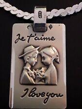 """Spécial Amour - Collier argent et pendentif titré """"925"""" - couple romantique"""
