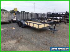 2021 Gps 7 x 16 New utility cargo flatbed tandem axle landscape trailer 82x16