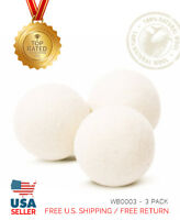 XL 3 Pack EcoJeannie Wool Dryer Balls - 100% Virgin New Zealand Wool