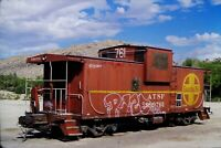Original Slide Atchison Topeka & Santa Fe Railway ATSF 999761 Caboose 2004