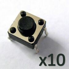 10x Rupteur commutateur micro switch 6x6x5mm black Button Switch Touch Contact